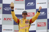 Second place Antonio Giovinazzi, Jagonya Ayam with Carlin Dallara Volkswagen