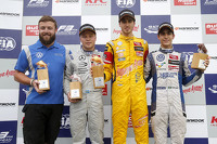 Podium: race winner Antonio Giovinazzi, Jagonya Ayam with Carlin Dallara Volkswagen, second place Felix Rosenqvist, Prema Powerteam Dallara Mercedes-Benz, third place Sérgio Sette Câmara, Motopark, Dallara Volkswagen
