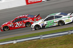 Jeb Burton, BK Racing Toyota and Travis Kvapil