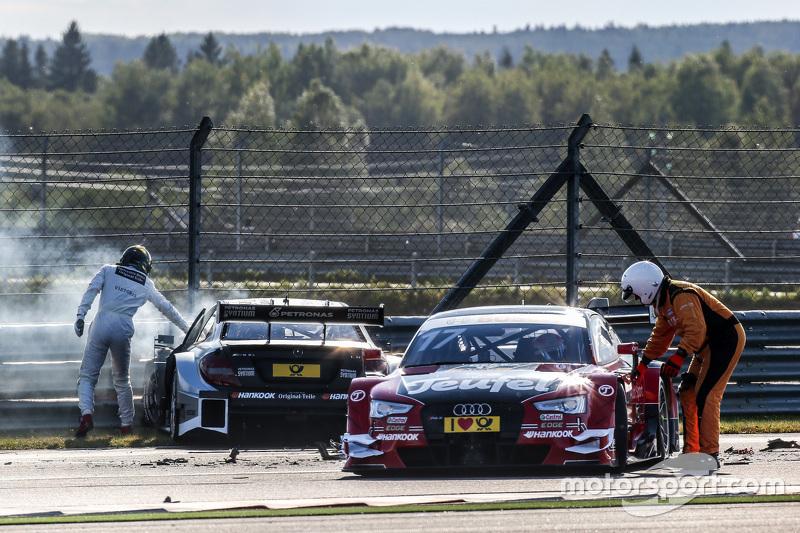Christian Vietoris, HWA AG, Mercedes-AMG C63 DTM; Miguel Molina, Audi Sport Team Abt, Audi RS 5 DTM