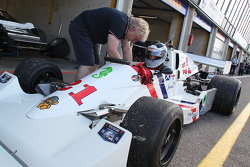 Freddie Hunt drives his father's Hesketh