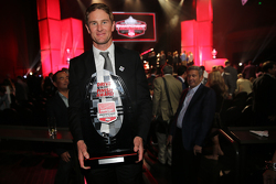 Ryan Hunter-Reay, Andretti Autosport Honda receives the Drive to the Finish Award