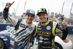Winner Scott Speed and second place Tanner Foust, Andretti Autosport Volkswagen
