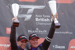 Race winners #17 TF Sport Aston Martin Vantage GT3: Derek Johnston, Matt Bell