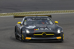 #98 Rowe Racing Mercedes SLS AMG GT3: Kenneth Heyer, Miguel Toril, Nicolai Sylvest
