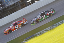 Kyle Larson, HScott Motorsports Chevrolet and Regan Smith, JR Motorsports Chevrolet