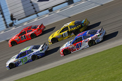 Casey Mears, Germain Racing Chevrolet and Justin Allgaier, HScott Motorsports Chevrolet and Carl Edwards, Joe Gibbs Racing Toyota and A.J. Allmendinger, JTG Daugherty Racing Chevrolet