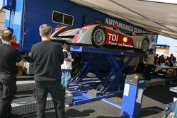 Audi Sport North America Audi R10 at scrutineering