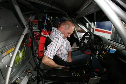 Seat fitting for Adrian Newey