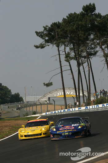 #78 AF Corse Ferrari 430 GT Berlinetta: Joe Macari, Ben Aucott, Adrian Newey, #63 Corvette Racing Corvette C6.R: Johnny O'Connell, Jan Magnussen, Ron Fellows