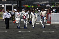 Nicolas Minassian, Pedro Lamy, Jacques Villeneuve and Stéphane Sarrazin