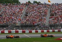 Adrian Sutil, Spyker F1 Team, F8-VII and Christijan Albers, Spyker F1 Team, F8-VII