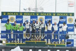 GT2 podium: class winners Raymond Narac, Richard Lietz, Patrick Long, second place Tracy Krohn, Nic Jonsson, Colin Braun, third place Lars-Erik Nielsen, Allan Simonsen, Pierre Ehret