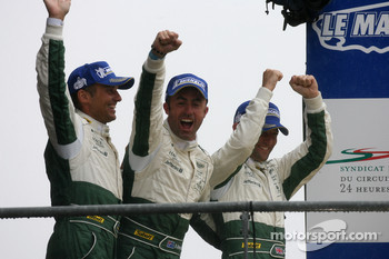 GT1 podium: class winners David Brabham, Rickard Rydell, Darren Turner