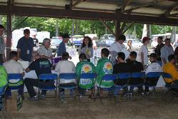 Fans line up for autographs