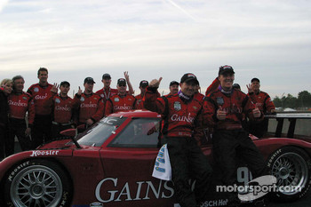 Gainsco/Bob Stallings Racing celebrate their win