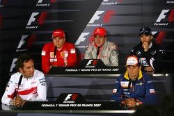 Kimi Raikkonen , Scuderia Ferrari, Fernando Alonso, McLaren Mercedes, Nick Heidfeld, BMW Sauber F1 Team, Franck Montagny, Test Driver, Toyota F1 Team, Giancarlo Fisichella, Renault F1 Team