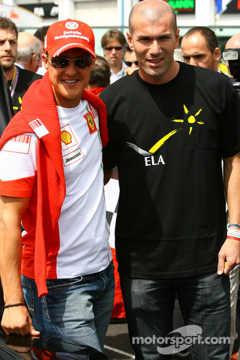 Michael Schumacher, Scuderia Ferrari, Advisor and Zinedine Zidane Famous Football Player