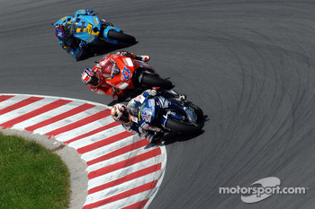 Marco Melandri, Casey Stoner and John Hopkins