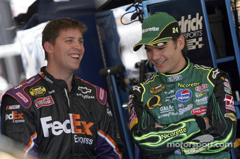 Denny Hamlin and Jeff Gordon