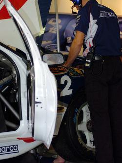 Working on the Andrew Jones car