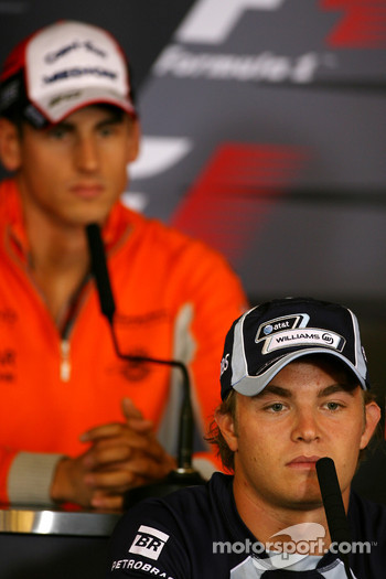 FIA press conference: Nico Rosberg, WilliamsF1 Team, Adrian Sutil, Spyker F1 Team
