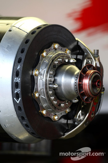Toyota Racing, TF107, brake detail