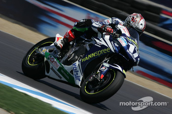 Miguel Duhamel on the Honda Gresini MotoGP bike