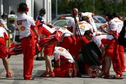 Scuderia Ferrari pitstop crew