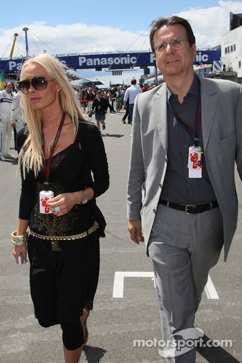 Cora Schumacher, Wife of Ralf Schumacher and Hans Mahr, Manager of Ralf Schumacher