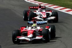 Ralf Schumacher, Toyota Racing, TF107 and Anthony Davidson, Super Aguri F1 Team, SA07