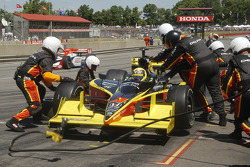 Vitor Meira waits for the fuel