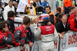 Alexandre Premat, Audi Sport Team Phoenix, Audi A4 DTM gave up his leading position in the race in favour of  Martin Tomczyk, Audi Sport Team Abt Sportsline, Audi A4 DTM. After the race Premat received many thanks and hands by the Audi team including Dr.