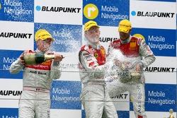 Podium: Alexandre Premat, Audi Sport Team Phoenix, Mattias Ekström, Audi Sport Team Abt Sportsline and Martin Tomczyk, Audi Sport Team Abt Sportsline
