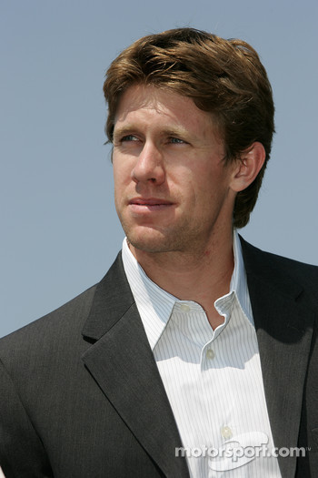 Pre-event press conference: Carl Edwards driver for the #60 Ford NASCAR Busch Series car