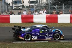 Start: #39 Cheever Racing - Pontiac Pontiac Fabcar: Christian Fittipaldi, Harrison Brix and #01 TELMEX Chip Ganassi with Felix Sabates Lexus Riley: Scott Pruett, Memo Rojas battle