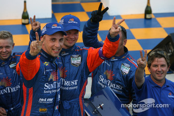 Max Angelelli, Jan Magnussen and Wayne Taylor celebrates victory