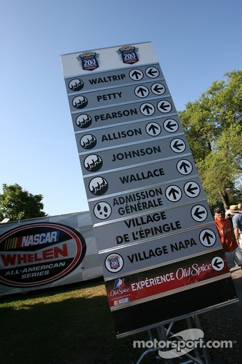 Grandstands sign at Circuit Gilles-Villeneuve
