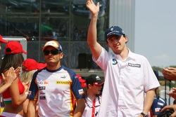 Giancarlo Fisichella, Renault F1 Team and Robert Kubica,  BMW Sauber F1 Team
