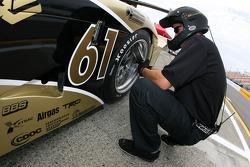 AIM Autosport team member at work