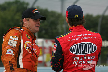 Kenny Wallace and Jeff Gordon