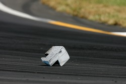 A debri on the track causes a yellow flag