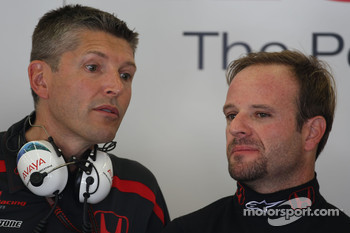 Nick Fry, Honda Racing F1 Team, Chief Executive Officer and Rubens Barrichello, Honda Racing F1 Team