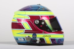 Oliver Jarvis, driver of A1 Team Great Britain, helmet