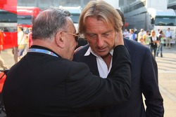 Don Sergio Mantovani, a Parish priest of Modena and Luca di Montezemolo, Scuderia Ferrari, FIAT Chairman and President of Ferrari