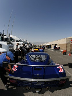 Red Bull/ Brumos Porsche Porsche Riley at technical inspection