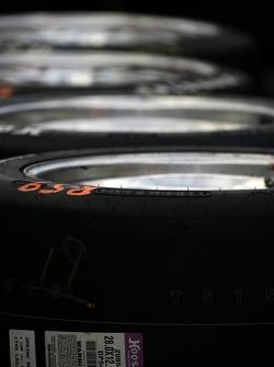 Detail of Hoosier tires