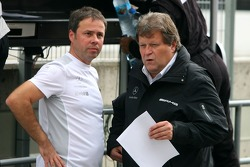 Gerhard Ungar, Chief Designer AMG and Norbert Haug, Sporting Director Mercedes-Benz
