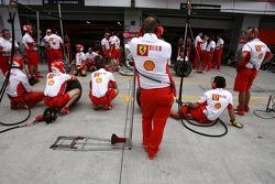Scuderia Ferrari team crew