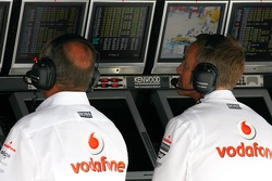 Ron Dennis, McLaren, Team Principal, Chairman and Martin Whitmarsh, McLaren, Chief Executive Officer